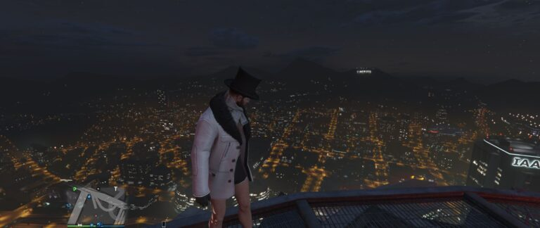 Relaxing to climb atop a building at night and just look at the world below. Even more amazing when you realize each light and object an actually there.