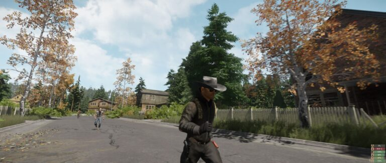 Being chased by two mutants. The skinny one is much faster than the muscle one, about as fast as players are.
