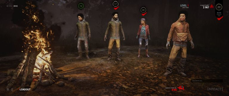The Triplets. Very limited skins/characters in Dead By Daylight