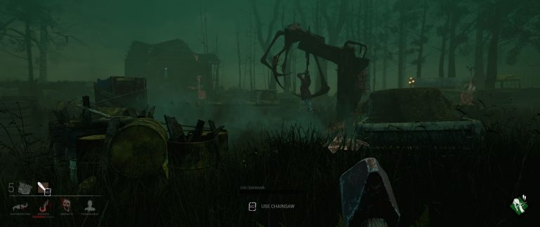 One of the lighter maps in the game. Not bad looking at all. Survivor being sacrificed