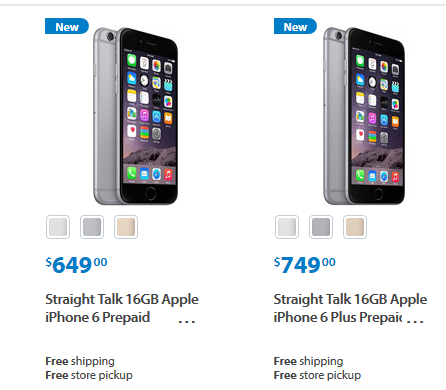 iphone 6 straight talk don t mind 16gb get iphone 6 and plus from walmart 15089