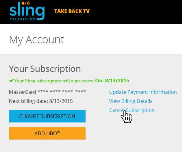 Cancel Sling