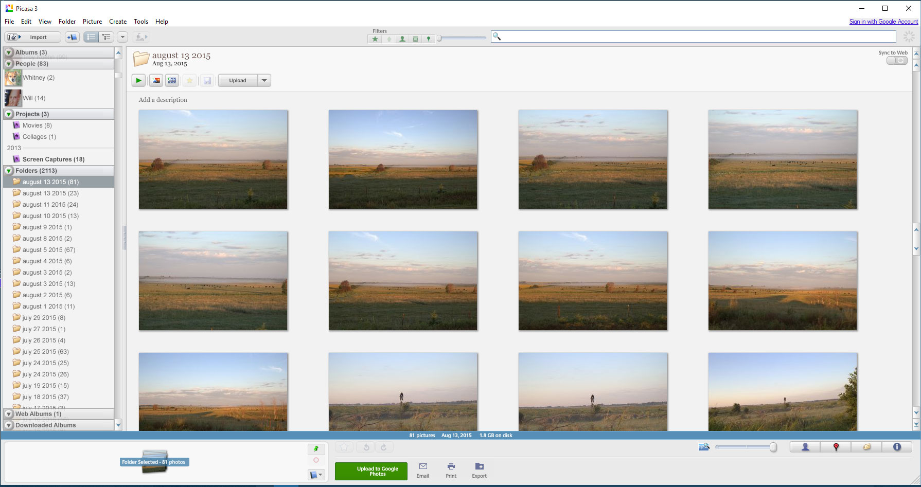 tech tip larger thumbnails in picasa grunch