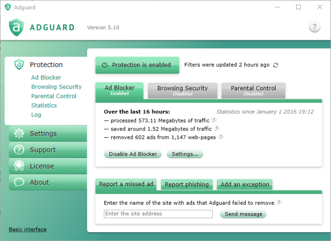 AdGuard Client UI