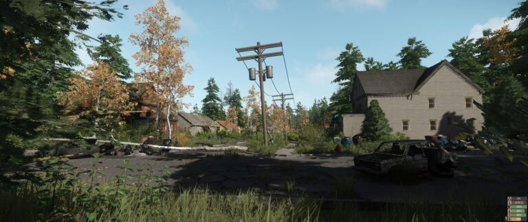 Abanonded town in Miscreated
