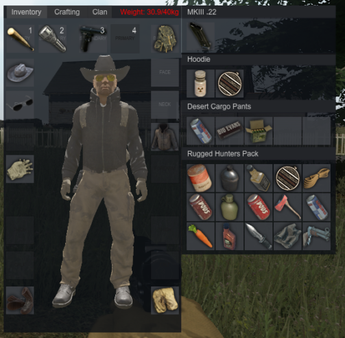 Miscreated Inventory Screen