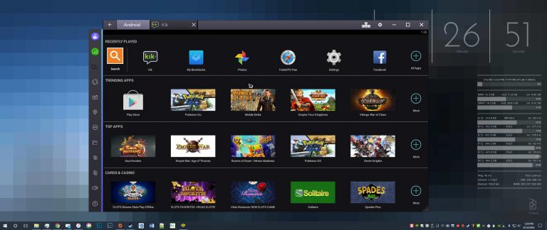 Android Running on Windows with BlueStacks